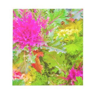Colored Plants Photo Notepad