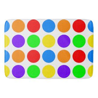 Colored Polka Dots Customizable Bath Mat