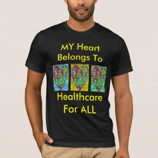 Colored Puzzled Hearts T-Shirt