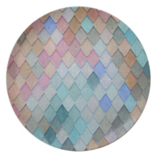 Colored Roof Tiles - PaintingZ Plate