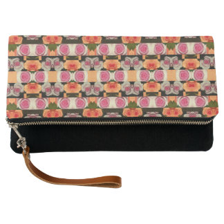 Colored Roses Pattern Clutch Bag