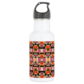 Colored Roses Pattern Water Bottle