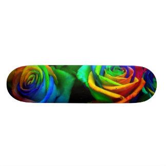 Colored Roses Skateboard