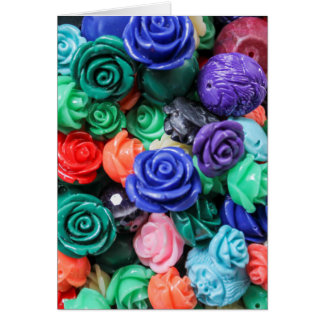 colored roses stones card