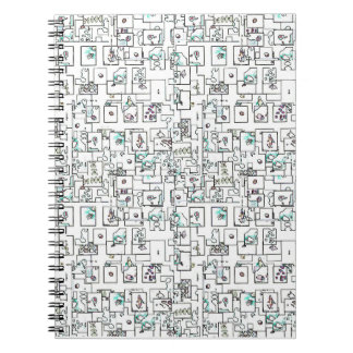Colored Shapes Notebook