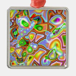 Colored Shapes of Fractals Ornament