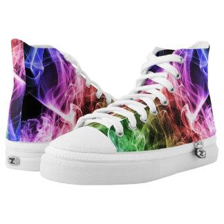 Colored Smoke High-Top Sneakers