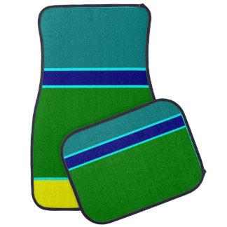 colored squares car mat