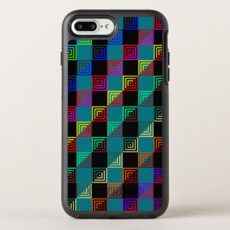 Colored squares half-and-half OtterBox symmetry iPhone 7 plus case
