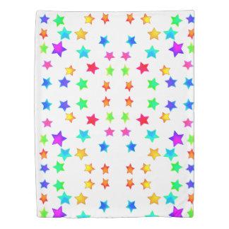 Colored Stars Duvet Cover