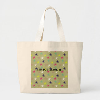 Colored stars large tote bag