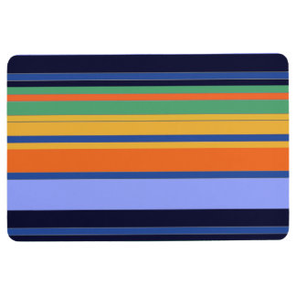Colored Striped Place Anywhere Floor Mat