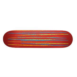 Colored Stripes Skateboard Deck