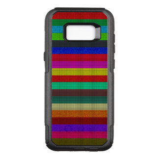 Colored stripes tile texture OtterBox commuter samsung galaxy s8+ case