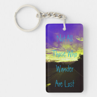 Colored Sunset and Quote Keychain