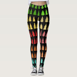 Colored Trees Leggings