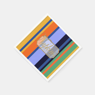 Colored Vertical Lines Paper Napkin