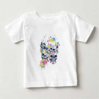 colored vintage skulls baby T-Shirt