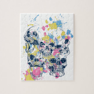 colored vintage skulls jigsaw puzzle