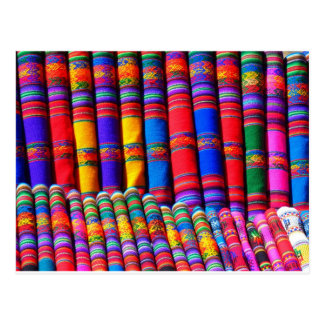 Colored Woven Cloth Postcard
