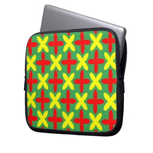 Colored x sleeve laptop computer sleeve