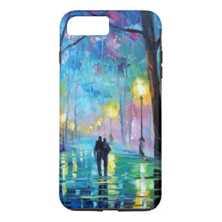 Colorerful lovers in the park iphone 7 hard case