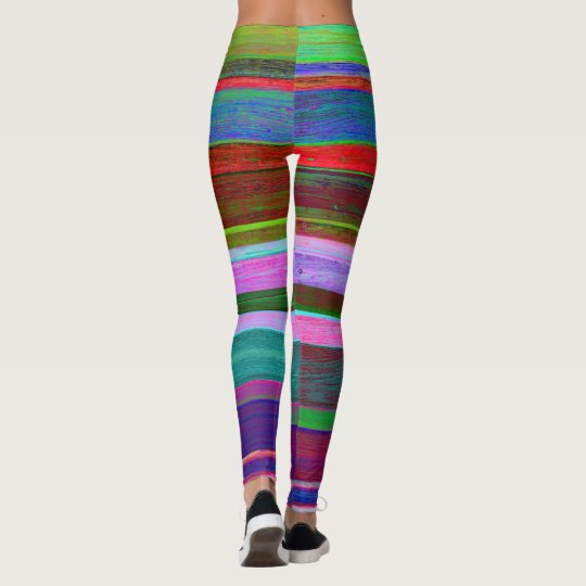 Colorfu and bright stripe leggings