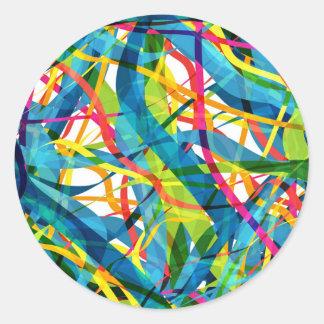 colorful 01 classic round sticker