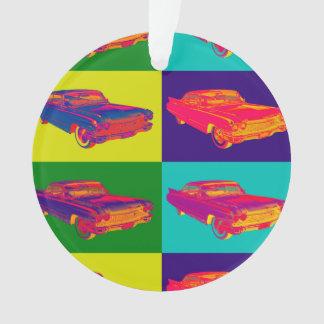 Colorful 1960 Cadillac Luxury Car Pop Art