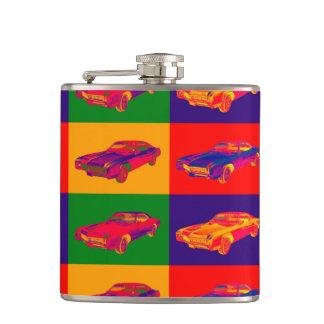 Colorful 1967 Buick Riviera Car Pop Art Flask