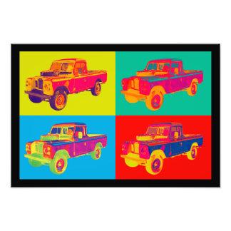 Colorful 1971 Land Rover Pickup Truck Pop Art Art Photo