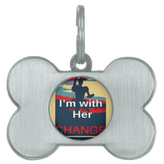 Colorful 2016 I am with her Vote for Hillary USA S Pet Tags