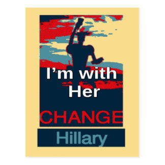 Colorful 2016 I am with her Vote for Hillary USA S Postcard