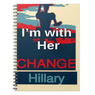 Colorful 2016 I am with her Vote for Hillary USA S Spiral Notebooks