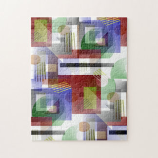 Colorful 3-D Illusion Abstract Art Jigsaw Puzzle