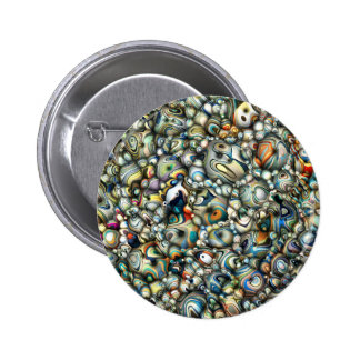 Colorful 3D Abstract 2 Inch Round Button