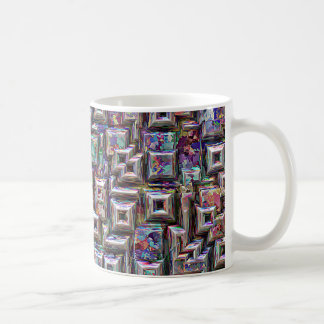Colorful 3D Abstract Structure Coffee Mug