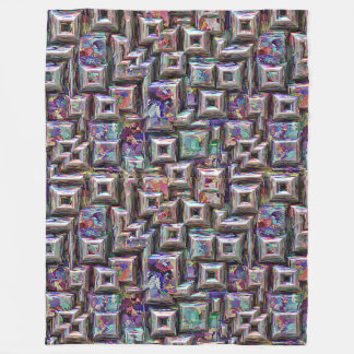 Colorful 3D Abstract Structure Fleece Blanket