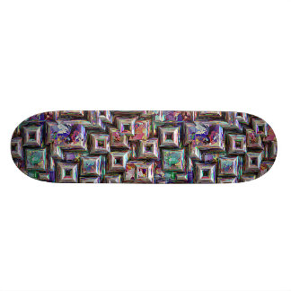 Colorful 3D Abstract Structure Skateboard
