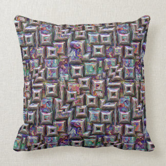 Colorful 3D Abstract Structure Throw Pillow