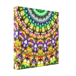 Colorful 3D Abstract Sun Canvas Print
