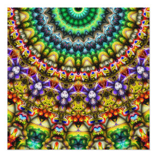 Colorful 3D Abstract Sun Poster