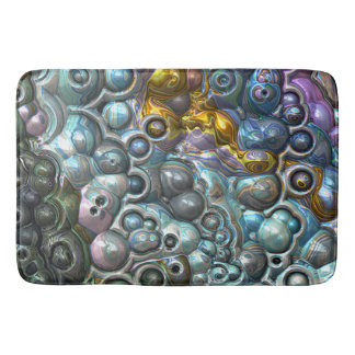Colorful 3D Clusters Bath Mat