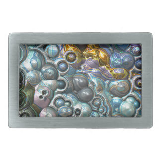 Colorful 3D Clusters Belt Buckle
