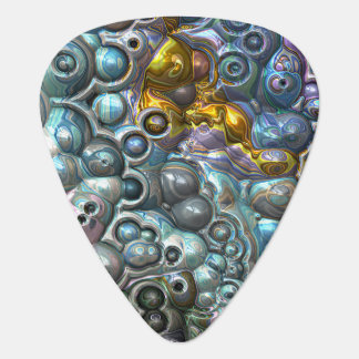 Colorful 3D Clusters Guitar Pick