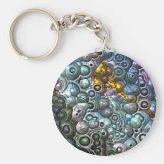 Colorful 3D Clusters Keychain