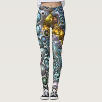Colorful 3D Clusters Leggings