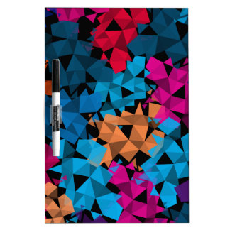 Colorful 3D geometric Shapes Dry Erase Board