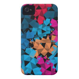 Colorful 3D geometric Shapes iPhone 4 Case