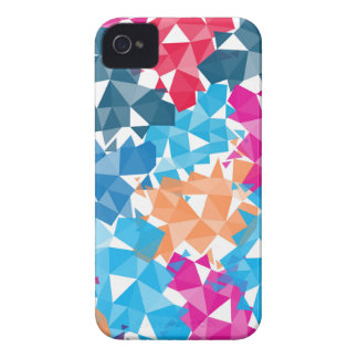 Colorful 3D geometric Shapes iPhone 4 Covers